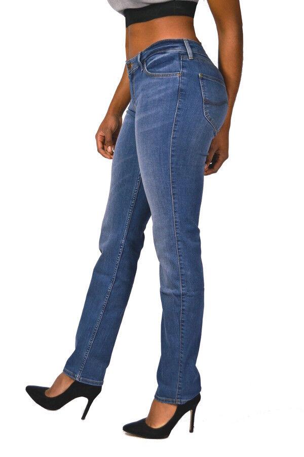 Lee® Jeans MARION Straight L301HAZV Mid Blau Blau Blau mittelblau - Mid Waist NEU c70089
