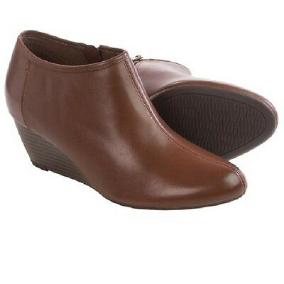 bff9adf7ce3 New Clarks Women Brielle Abby Leather Wedge Booties Brown Variety ...