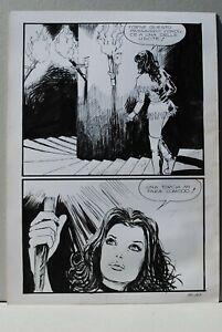 Milo Manara Jolanda de Almaviva n° 57 pag 105 tavola originale 25x35cm circa