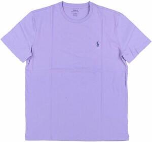 Polo-Ralph-Lauren-Mens-Big-amp-Tall-Pony-Logo-Crew-Neck-Jersey-T-Shirt-Purple-XLT