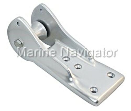 Bow Fitting with Anchor Roller Silver Anodized Aluminum 245mm