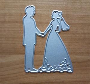 Stanzschablone-Hochzeit-Liebe-Brautpaar-Schachtel-Papier-Karte-Album-Deko-DIY