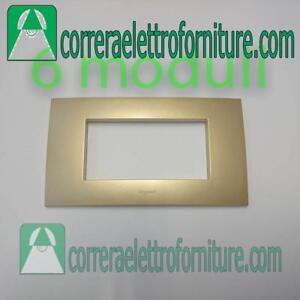 LEGRAND-VELA-placca-quadra-6-moduli-oro-metallizzato-685768