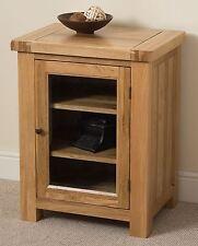Cottage Solid Oak Wood HI FI Media Storage TV Cabinet Unit Wooden Furniture
