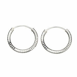 18mm Diamond Cut Pattern Hoop Earring 925 Sterling Silver Ears Nose amp Lips - Stanmore, United Kingdom - We want you to be completely satisfied with your purchase, however, we will refund the cost of the item if returned to us within 30 days of the item being received by you if you are not completely satisfied. Please contact us be - Stanmore, United Kingdom
