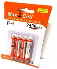 4 x AAA MIRCO NI-MH AKKU 1,2V 2400 mAh Wiederaufladbar Batterien Akku aufladbar