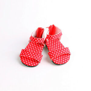 Handmade-fashion-Sandals-shoes-for-18inch-American-girl-doll-party-b555