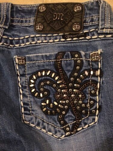 Applique Rhinestone Jeans Smukt Miss 27 Bootcut Me Studs Lis X 33 De Fleur vx1HwCxqz