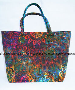 Indian-Mandala-Multi-Tote-Bag-Shoulder-Handbag-Cotton-Women-Satchel-Purse-Lady-2