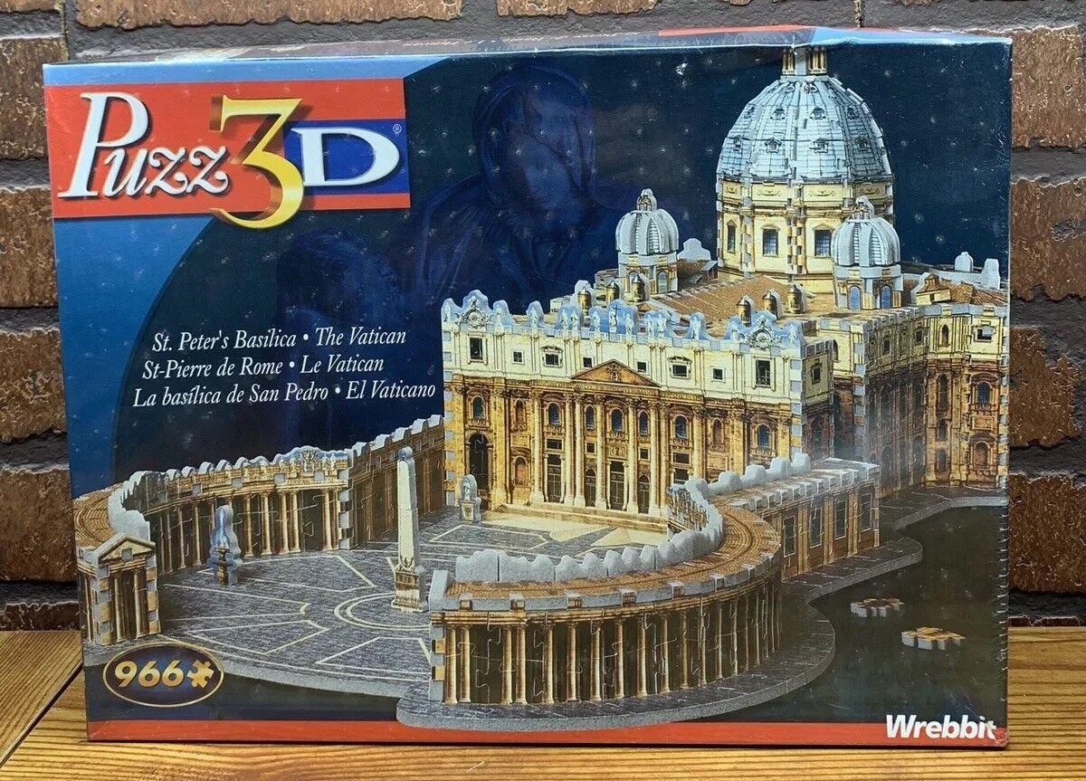 Petersdom 3d - puzzle 966 stcke jigsaw vatikan wrebbit hasbro puzz 3d