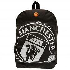 Manchester United FC / Man Utd Official Black Nylon Backpack School Bag