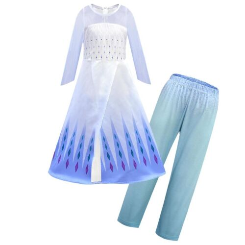 Childrens Kids Girls Cute Princess Queen Elsa Halloween Costume Dress Up