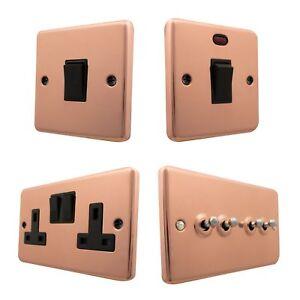 Aged Antique Polished Brass CANB Light Switch Plug Socket Dimmer Cooker Fuse BT