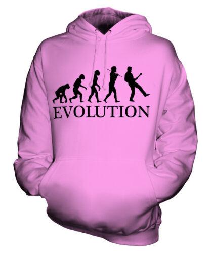 ELECTRIC GUITAR EVOLUTION OF MAN UNISEX HOODIE MENS WOMENS LADIES GIFT GUITARIST