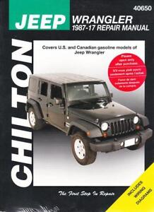 1987 2017 jeep wrangler chiltons repair service workshop shop manual rh ebay com 2012 jeep wrangler repair manual 2012 jeep wrangler sport service manual