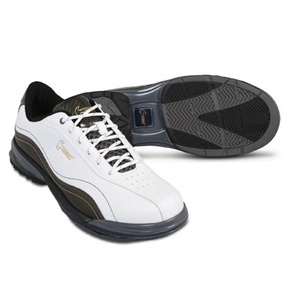 Men's Hammer Force Bowling shoes White with Soles and Heels RH Size 7-13 WIDE
