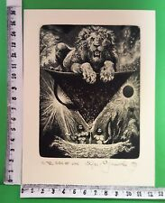 "EXLIBRIS 91 "" IN THE SIGN OF LION ""- **** ALBIN BRUNOVSKY **** - C COLOR SIGNED!"