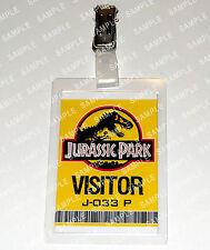 Jurassic Park ID Badge/Card Dinosaur Visitor Pass Cosplay Costume Prop Comic Con