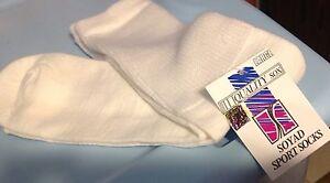 Soyad-Socks-large-10-13-Sport-soccer-volleyball-baseball-WHITE-Unisex-NEW