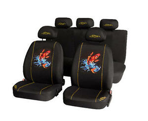 Ed Hardy Genuine Koi Fish Car Seat Covers