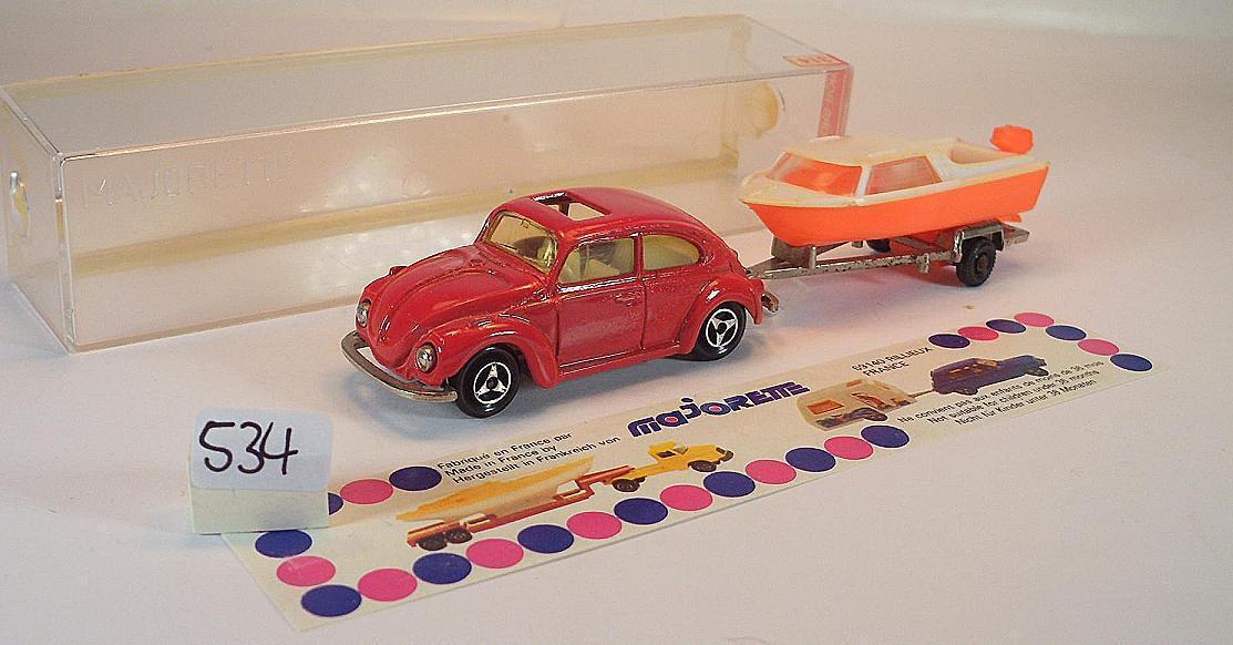 el estilo clásico Rojo de esCocheabajo de majorette 1 60 60 60 no. 314 VW Volkswagen 1302 esCocheabajo y barco OVP  534  Entrega directa y rápida de fábrica