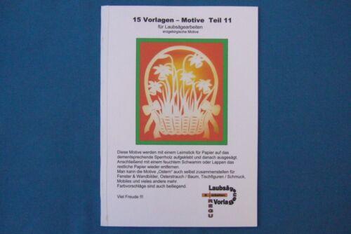 + 15 VORLAGEN für LAUBSÄGE erzgeb. Motive Teil 11 von REGU - Laubsägevorlagen