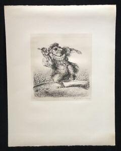 A. Paul Weber, uno studente da cui SCONTO, litografia, 1978, firma