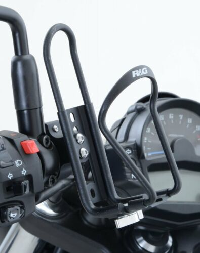 R/&G MOTO REGOLABILE NERO Bottle Cage-Montaggio Universale