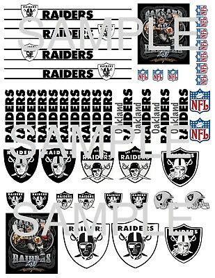 Raiders 1 24 Scale Decals For Die Cast And Model Cars Ebay