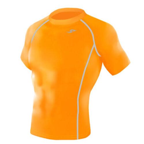 Take Five Mens Skin Tight Compression Base Layer Running Shirt S~2XL Orange 131