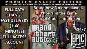 ✅ prix bas ✅ GTA 5 grand theft auto 5 ✅ PC ✅ Premium En ligne ✅ Données complètes changement ✅ epicgames