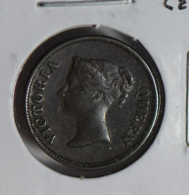 Orderly Straits Settlements 1845 1/4 Cent S0255 Combine Shipping