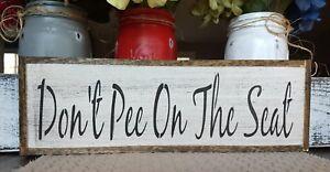 Bathroom-wood-sign-DON-039-T-PEE-ON-SEAT-Bathroom-Sign-farmhouse-sign-bath-sign