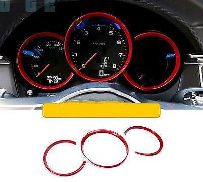 ABS Interior Dashboard Meter Ring Cover Trim 3pcs for Porsche Macan 2014-2016