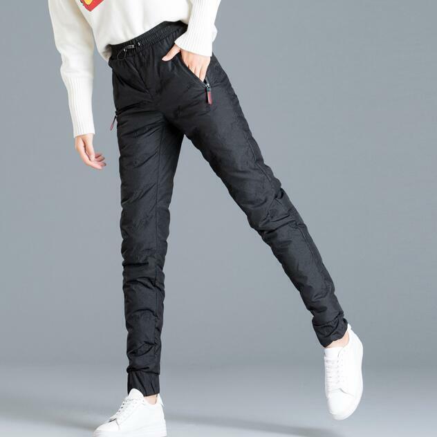 Señora Mode pantalones invierno daunenhose alta federal  elásticos cintura tobillo federal  venta al por mayor barato