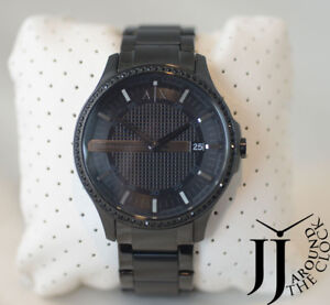 New Armani Exchange A X Classic Hampton Black Ion-Plated Mens Watch ... 59587a07b7