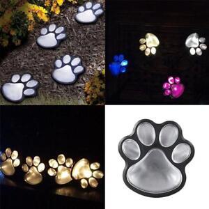 4-Solaire-Chat-Animal-Paw-Imprimer-Lumieres-Jardin-Exterieur-Lanterne-Path-lampe-decor