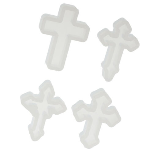 Cross Silicone Mould Resin Pendant Molds Jewelry Making Tools Screw Eyes Pin