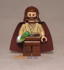 Lego Qui-Gon Jinn from Set 9499 Gungan Sub Star Wars Jedi Minifigure NEW sw410