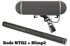 RODE NTG-2 and BLIMP BLIMP2 Condenser Shotgun Microphone Package NTG2 IN BOX!