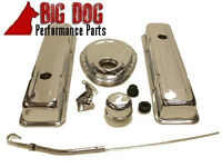 1958 - 1986 Chevy Small Block Smooth Chrome Steel Engine Dress-up Kit