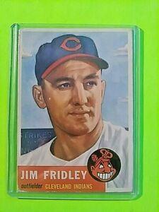 1953-Topps-Jim-Fridley-187-INDIANS-VG