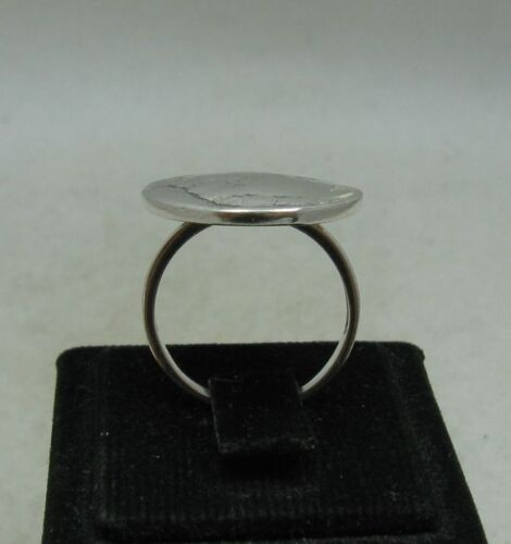 VINTAGE STERLING SILVER RING CHIEF FIVE CENTS USA SOLID 925 NEW SIZE 3.5-13