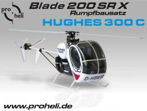 Rumpfbausatz-034-Hughes-300C-034-fuer-Blade-200-SR-X-von-Horizon-auch-fuer-Blade-230S