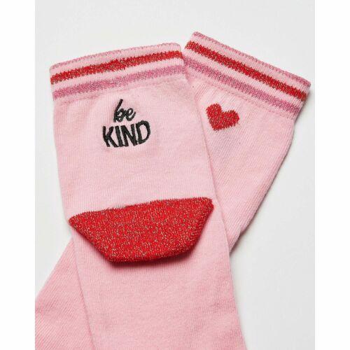 Oliver Bonas Women UK Youth Be Kind Pink Ankle Socks