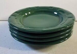 Image is loading Longaberger-Dinnerware-Set-Pottery-Dishes-Ivy-Green-4- & Longaberger Dinnerware Set Pottery Dishes Ivy Green 4 Bread Plates ...