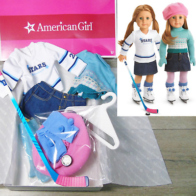 Mia American Girl Doll 2 in 1 Skate Outfit Long Blue Gloves Only Retired