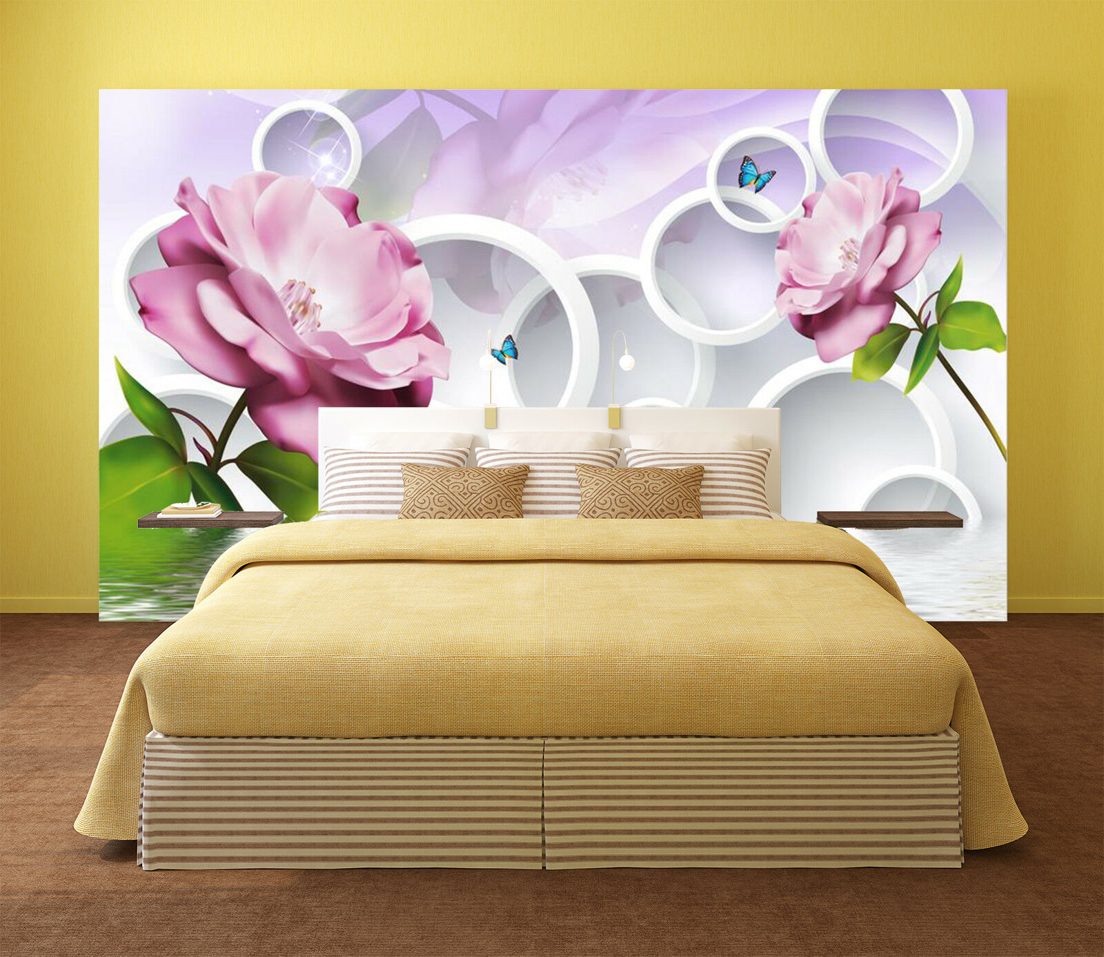 Naturalmente 3d fiori motivo 983 carta da da da parati muro dipinto carta da parati immagine famiglia de Kyra 08d0ad