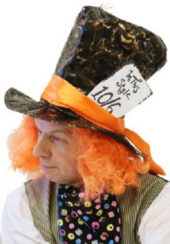 Alice in Wonderland-World Book Day MAD HATTER 10//6 HAT /& CRAVAT SET one size