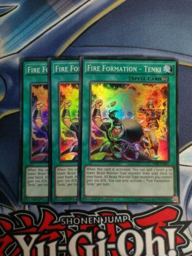 Tenki Super Rare 1st Edition YuGiOh Card NM 3x THSF-EN057 Fire Formation